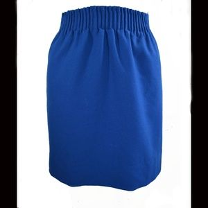J.CREW Sidewalk Blue Wool Mini Skirt 6 S